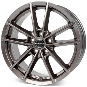 16x6.5 5x114 ET40 CB72,5 Borbet W mistral anthracite glossy