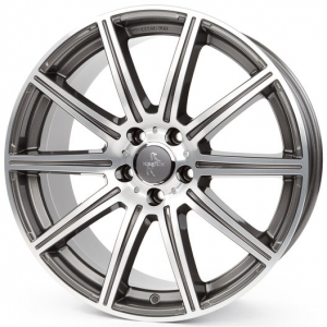 19x9.5 5x112 ET30 CB66,6 Keskin KT16 palladium front polish