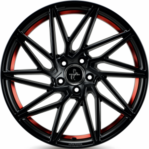 20x8.5 5x112 ET45 CB72,6 Keskin KT20 black painted red inside