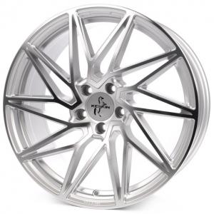 19x8.5 5x112 ET30 CB72,6 Keskin KT20 silver front polish