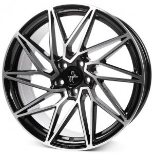18x8.0 5x112 ET45 CB72,6 Keskin KT20 black front polish