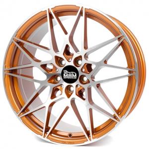 18x8.0 5x112 ET30 CB72,6 MAM B2 acid orange front polish