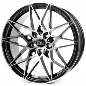18x8.0 5x112 ET45 CB72,6 MAM B2 black front polish