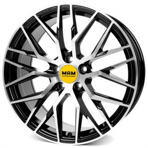 19x8.5 5x120 ET35 CB72,6 MAM RS4 black front polished