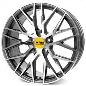 19x8.5 5x112 ET30 CB72,6 MAM RS4 palladium front polished