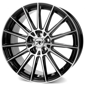 20x8.5 5x112 ET45 CB66,6 R³ Wheels R3H07 black-polished