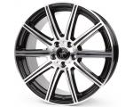 18x8.0 5x112 ET30 CB66,6 Keskin KT16 black front polish