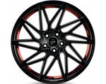 20x8.5 5x120 ET35 CB72,6 Keskin KT20 black painted red inside