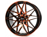 18x8.0 5x120 ET35 CB72,6 MAM B2 black front orange