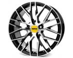 19x8.5 5x108 ET45 CB72,6 MAM RS4 black front polished